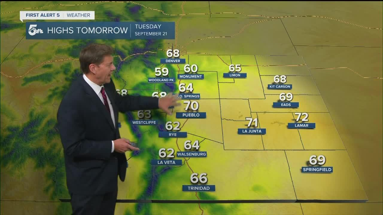 Cold Tuesday morning lows and chilly daytime highs