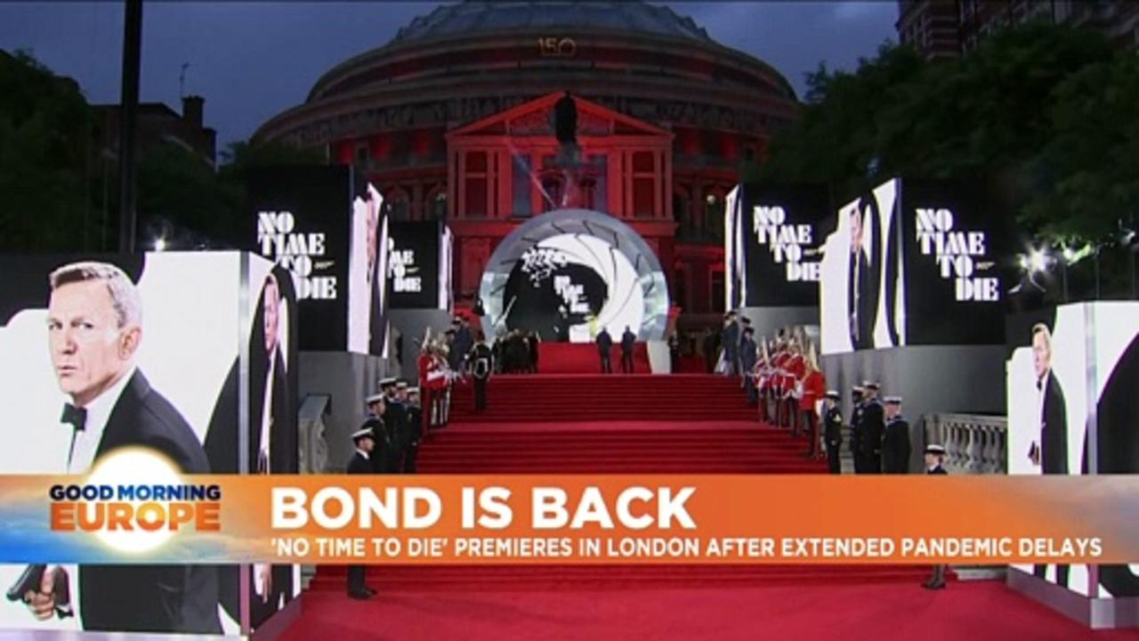 'No Time to Die': Premiere of much-delayed James Bond film in London