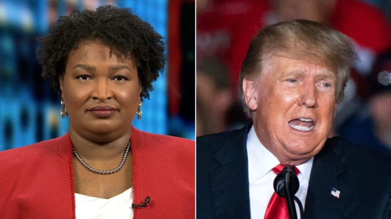 Stacey Abrams responds to Trump invoking her name at rally