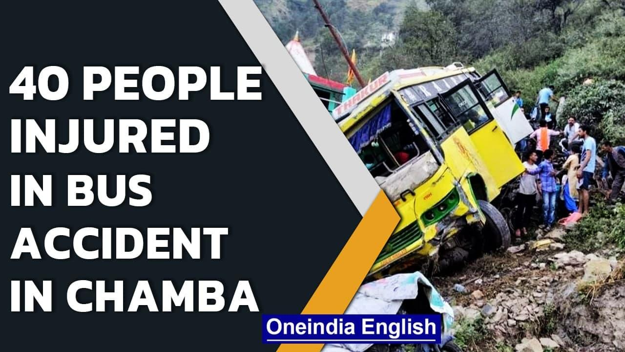 Himachal Pradesh: 40 people injured in bus accident in Chamba | Oneindia News