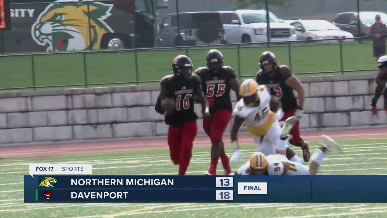 Davenport 18, Northern Michigan 13