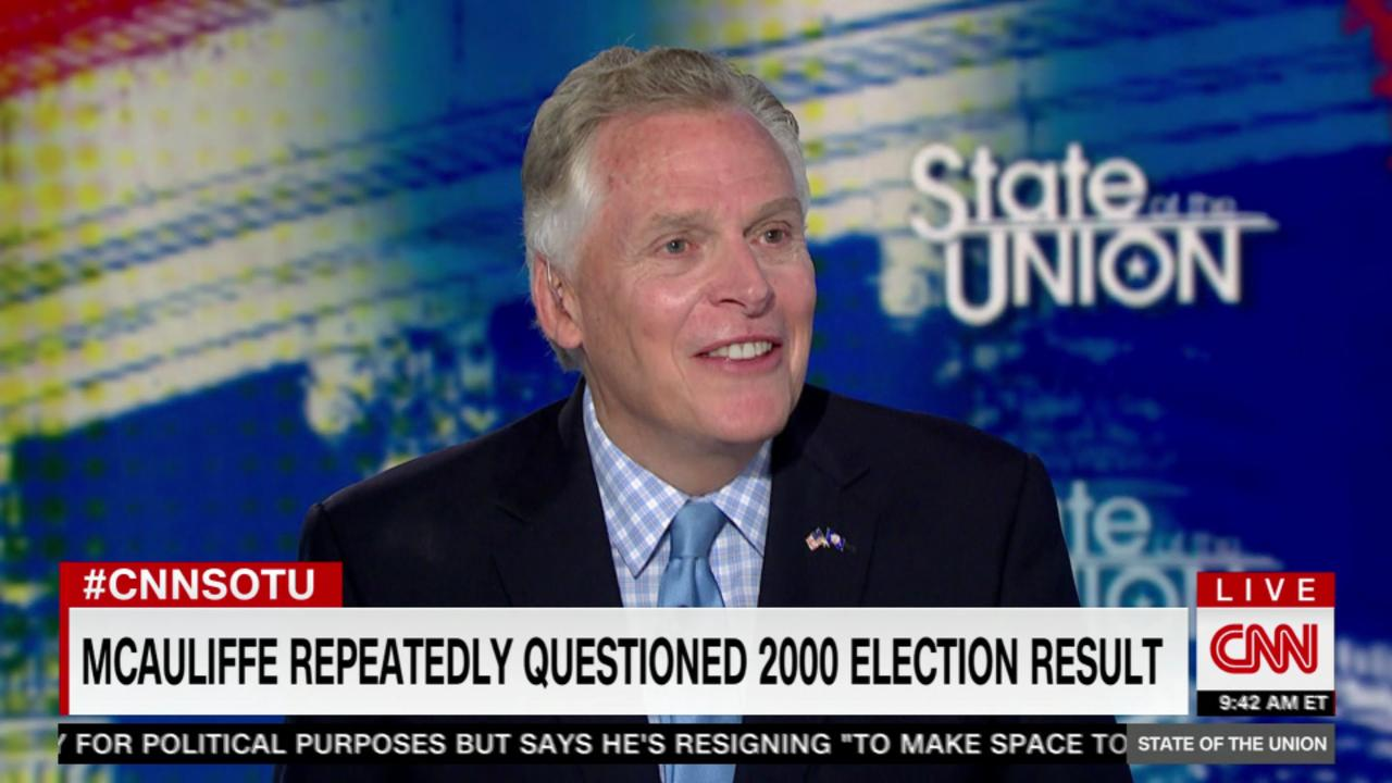 McAuliffe defends saying GOP 'stole' 2000 election