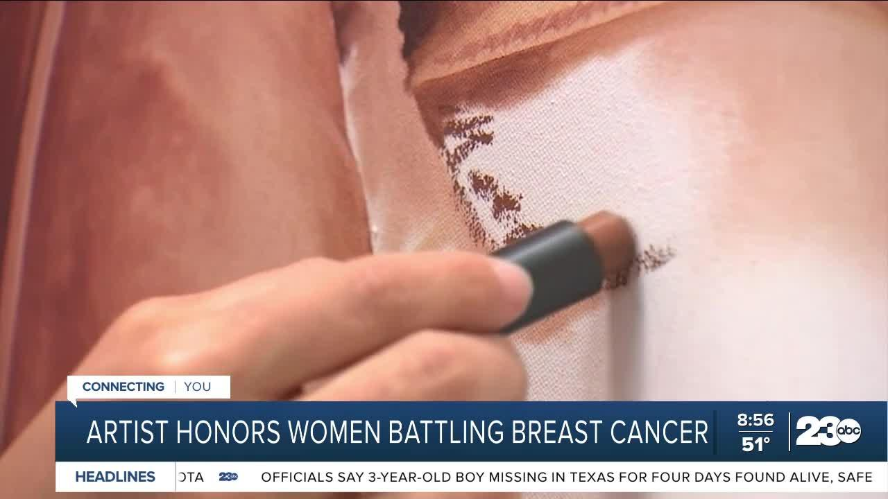 Artist honors women battling breast cancer