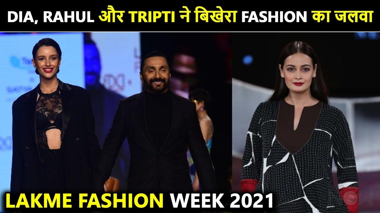 Dia Mirza & Rahul Bose Walk The Ramp | Lakme Fashion Week 2021