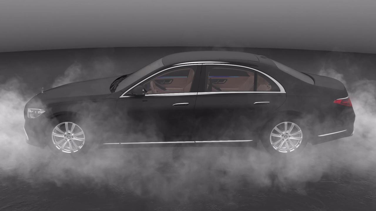 Mercedes-Benz S 680 GUARD 4MATIC in obsidian black Animation