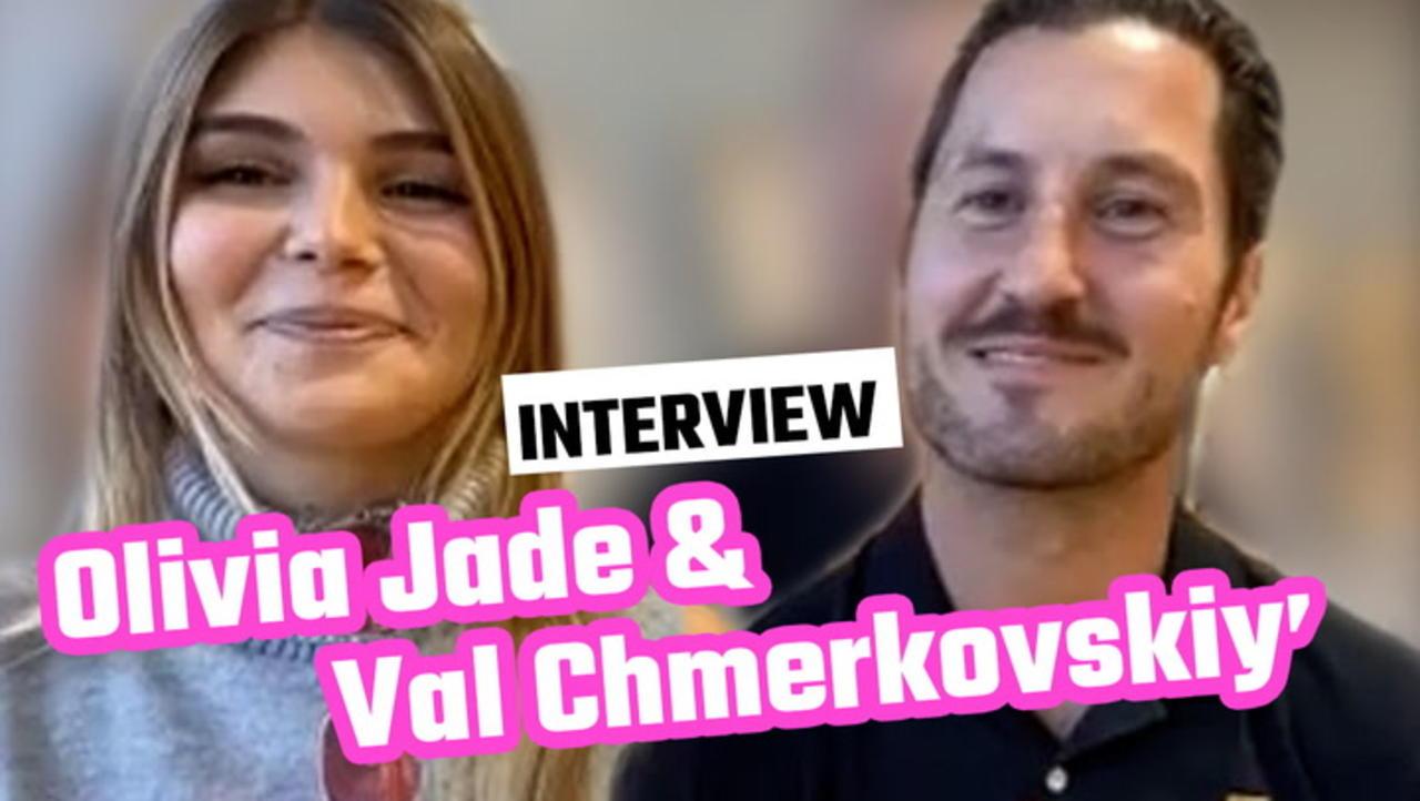 Olivia Jade & Val Chmerkovskiy 'DWTS' Interview