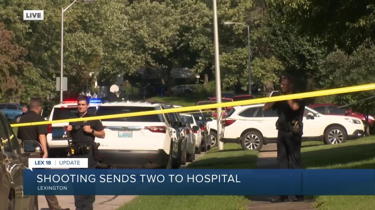 Shooting in Lexington sends two to hospital