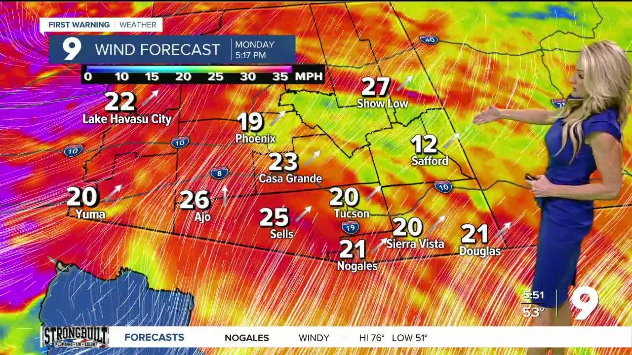 Strong winds and much colder air coming