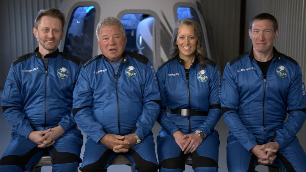 Hear from William Shatner and crew ahead of Blue Origin space flight