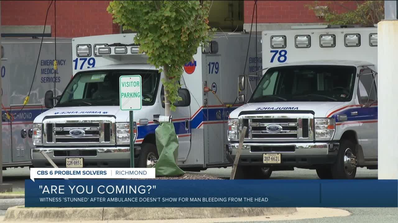 No-show ambulance worries Richmond man: 'I was just stunned'