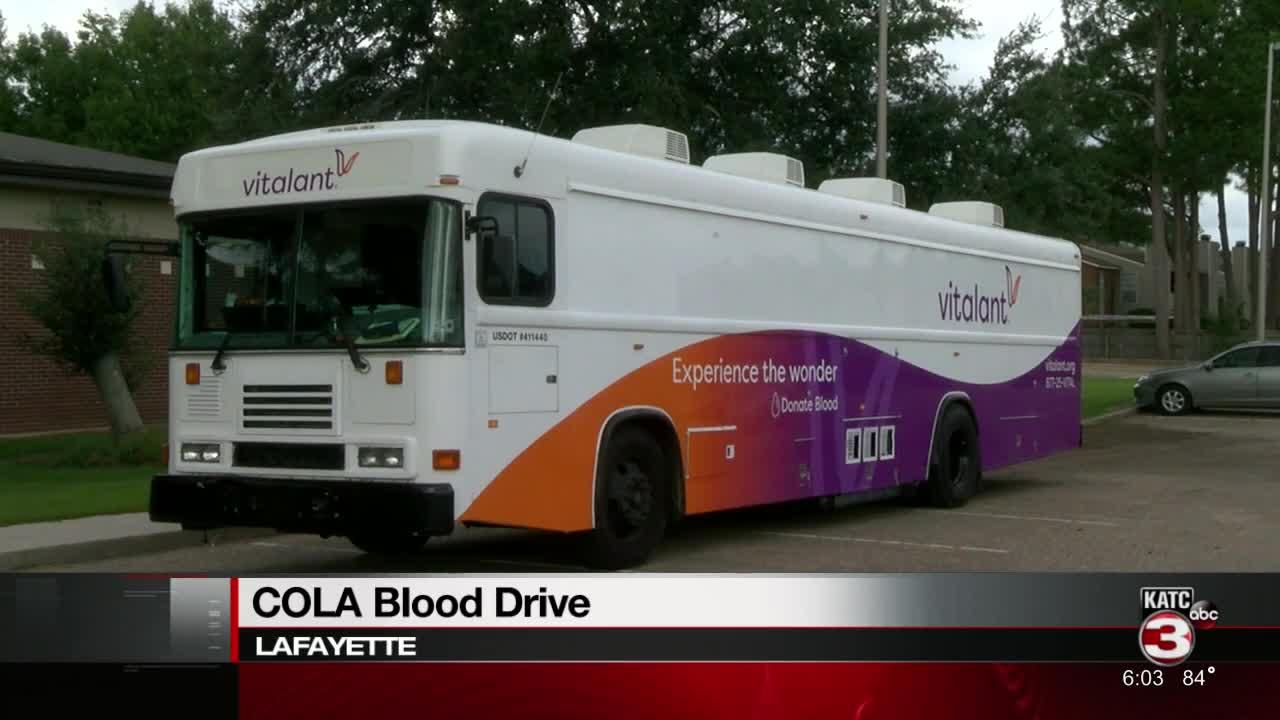 COLA holds blood drive to help local blood banks rebound