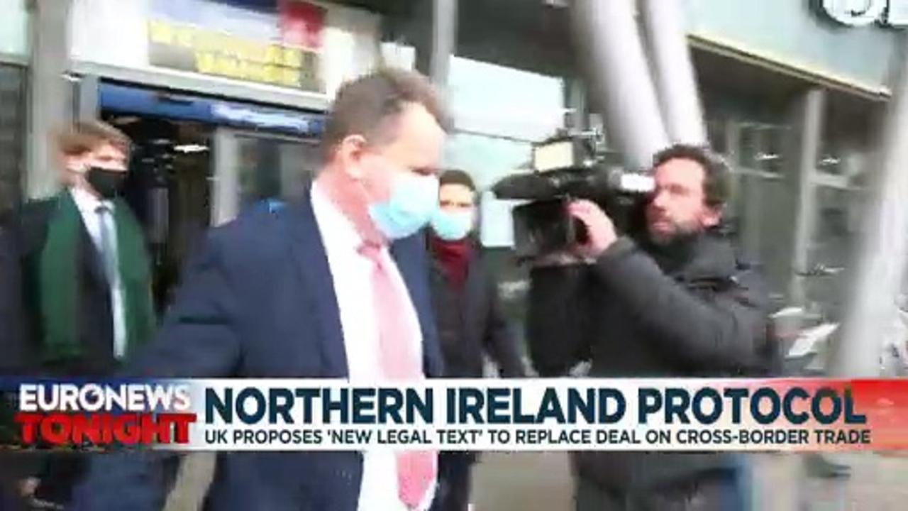 UK Brexit Minister David Frost offers EU 'new legal text' on Northern Ireland