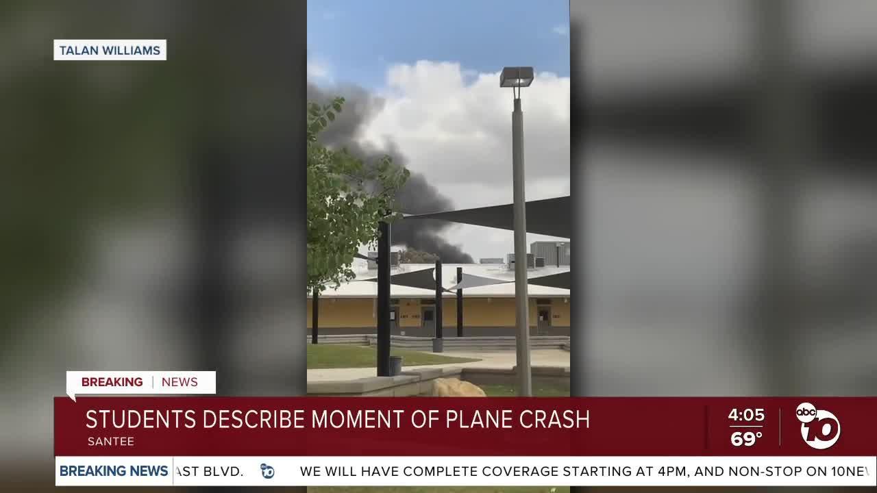 Santana High students describe plane crash blocks away