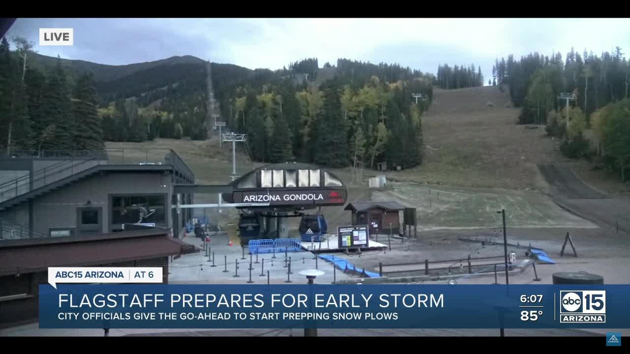 Flagstaff prepares for early storm
