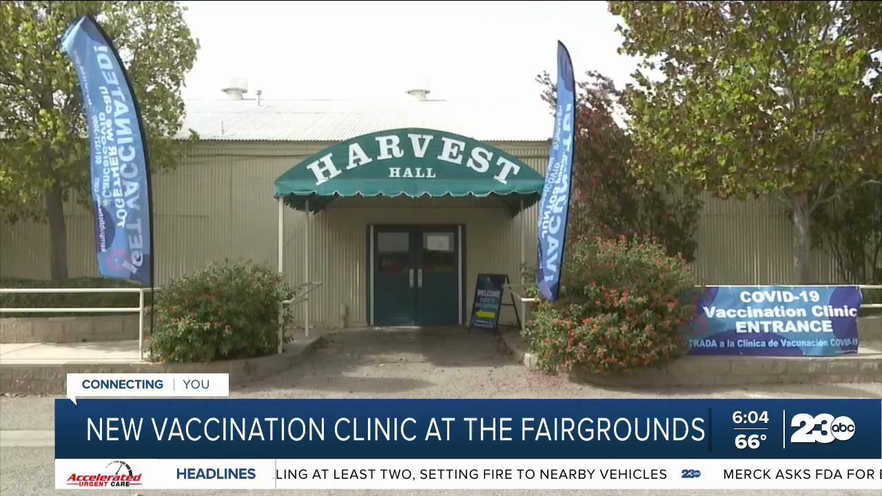 Vaccination clinic will be opening at Kern Fairgrounds for rest of the year