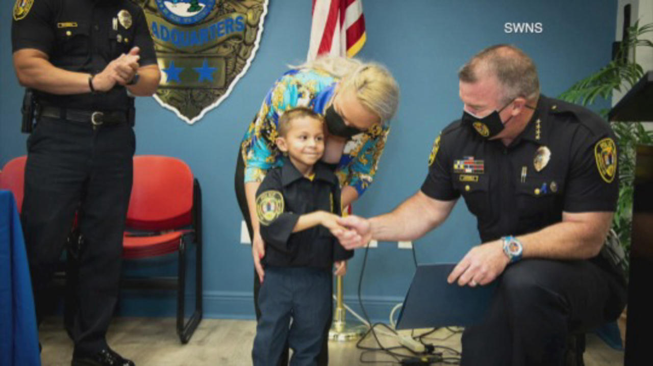 Miami PD Hold Swearing-in Ceremony for 5-Year-Old Boy Battling Cancer!