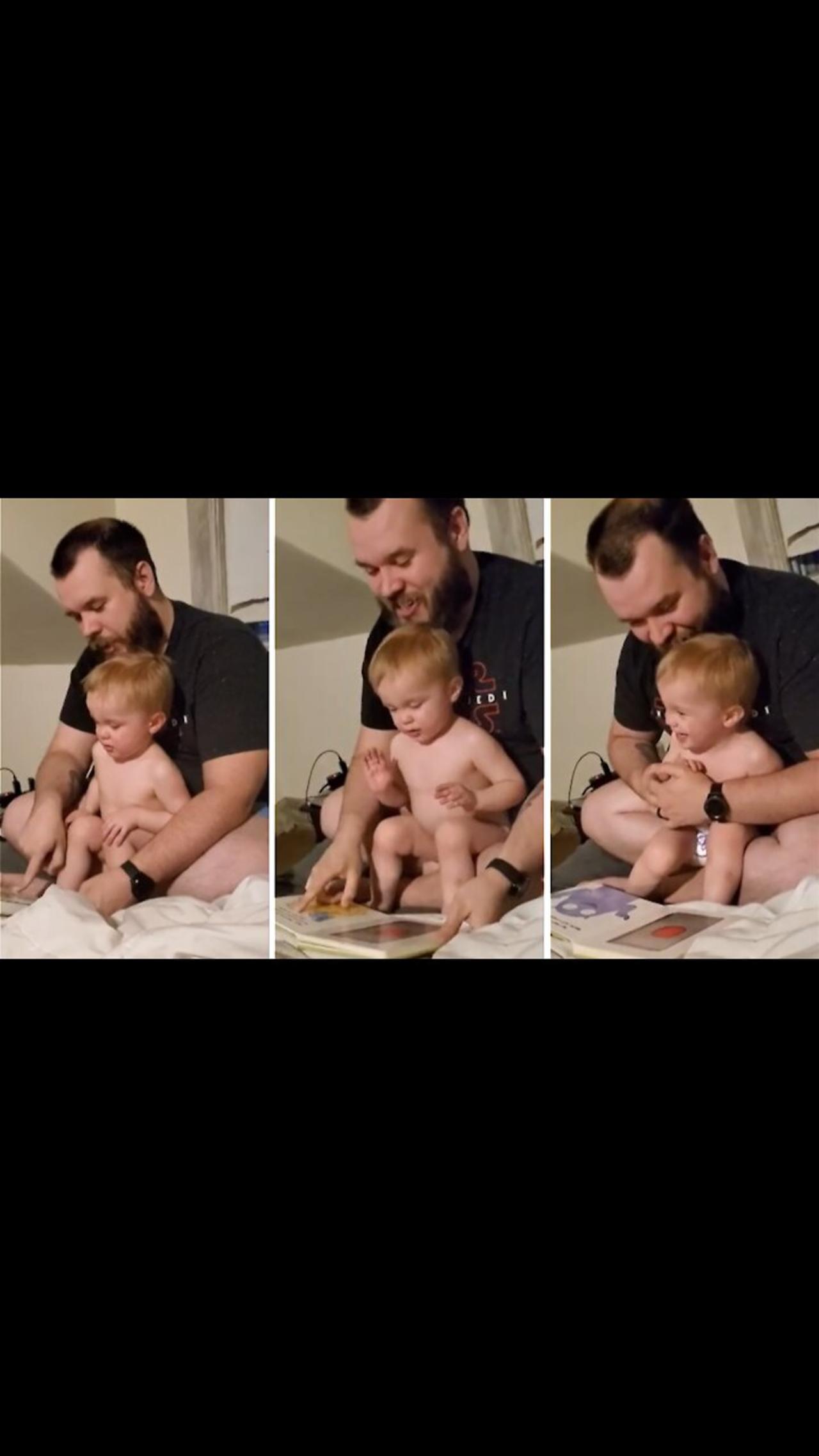 Dad & son have a blast reading creative children's book