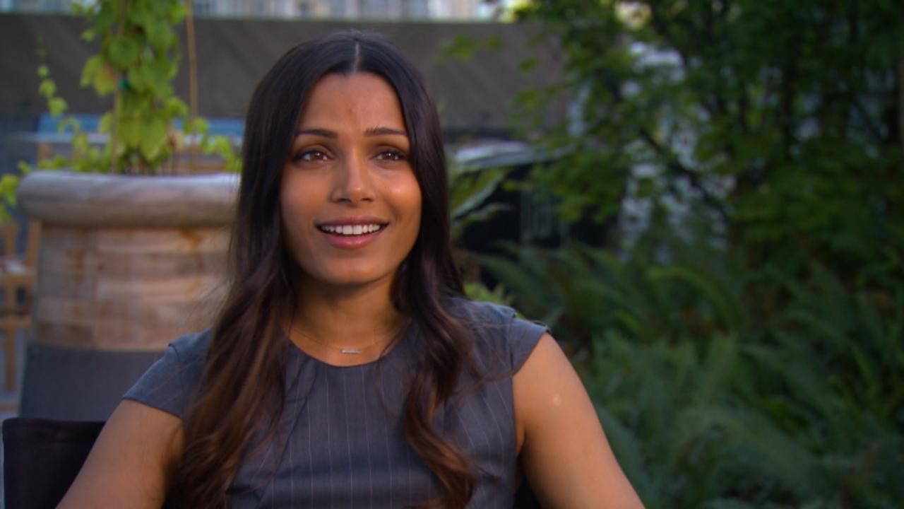 Freida Pinto Gushes Over Working With Leslie Odom Jr.