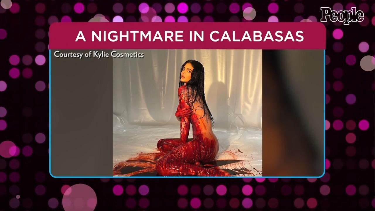 Kylie Jenner Poses Nude in Fake Blood for Nightmare on Elm Street-Inspired Makeup Collection
