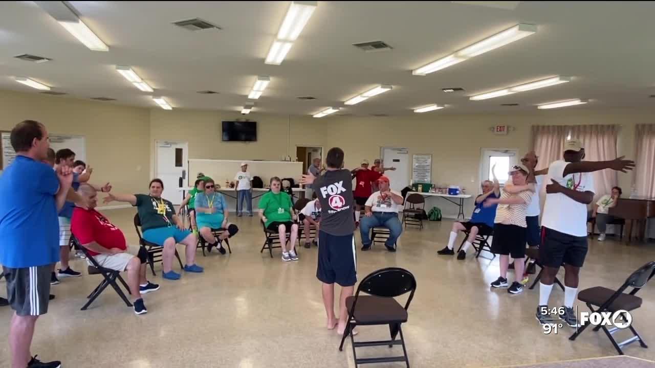Patrick Nolan teaches yoga to special needs adults