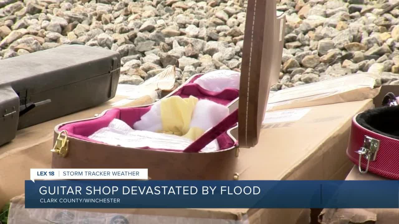 Winchester guitar shop devastated by flood