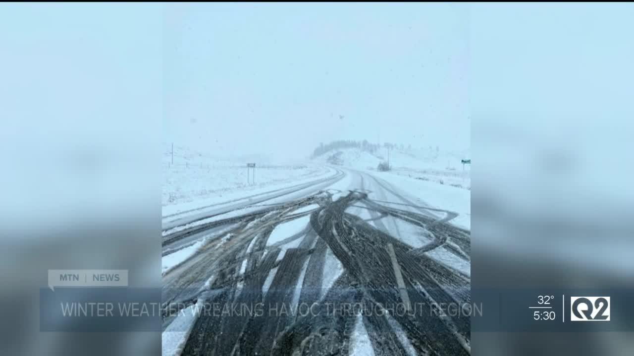 Early Montana winter hammers Montana travelers