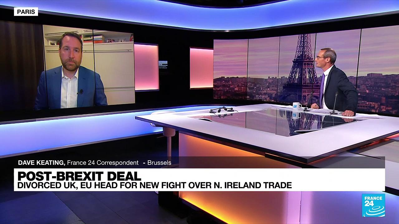 Divorced UK and EU head for new Brexit fight over N. Ireland trade