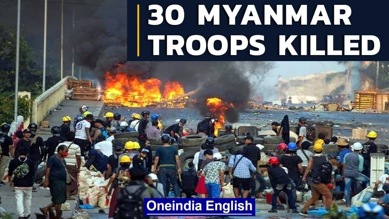 Myanmar: 30 soldiers killed in clashes with rebels in Saigang   Oneindia News