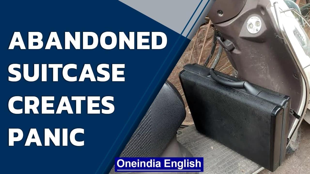 Bengaluru: Bomb disposal squad called as abandoned suitcase creates panic   Oneindia News