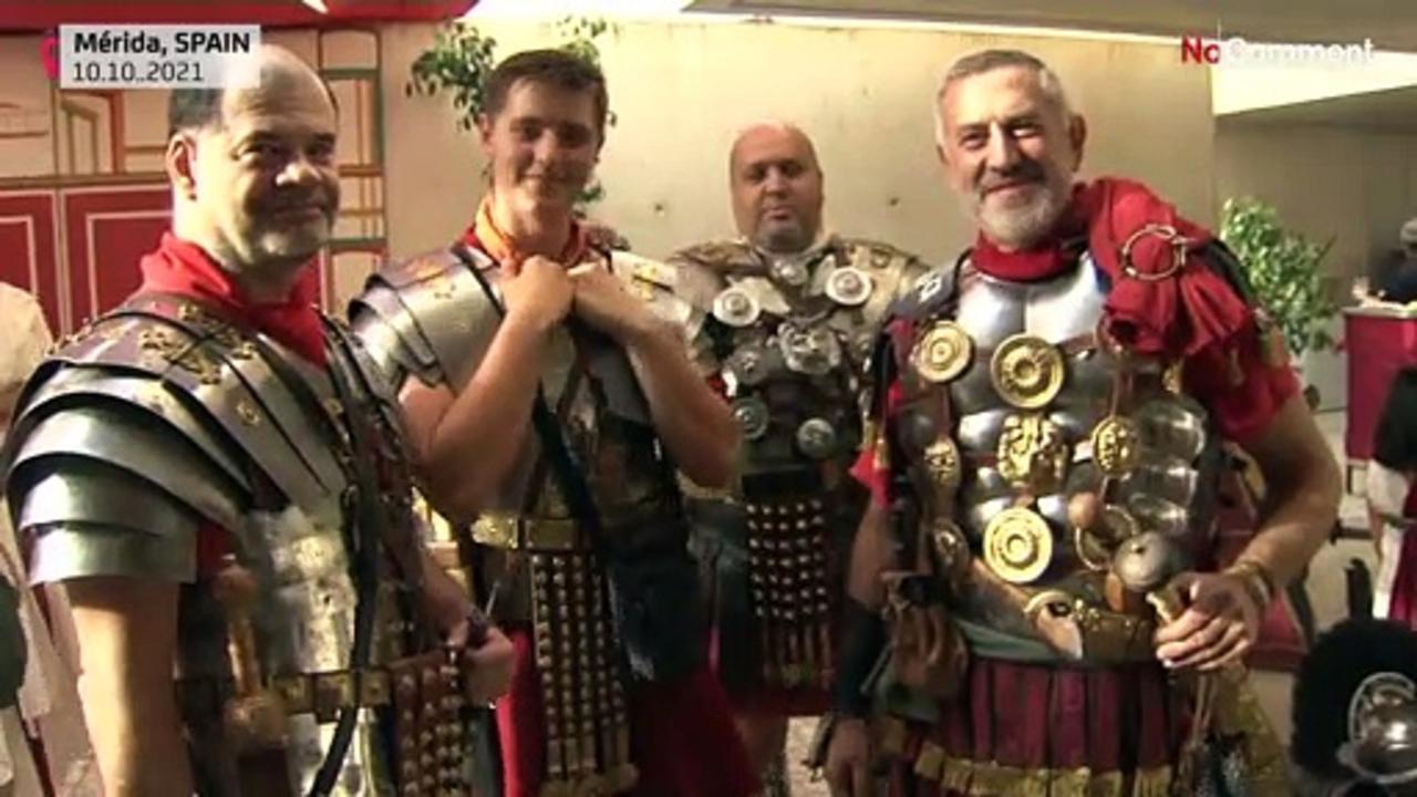 Spanish city of Merida hosts festival to rekindle with its Roman-past