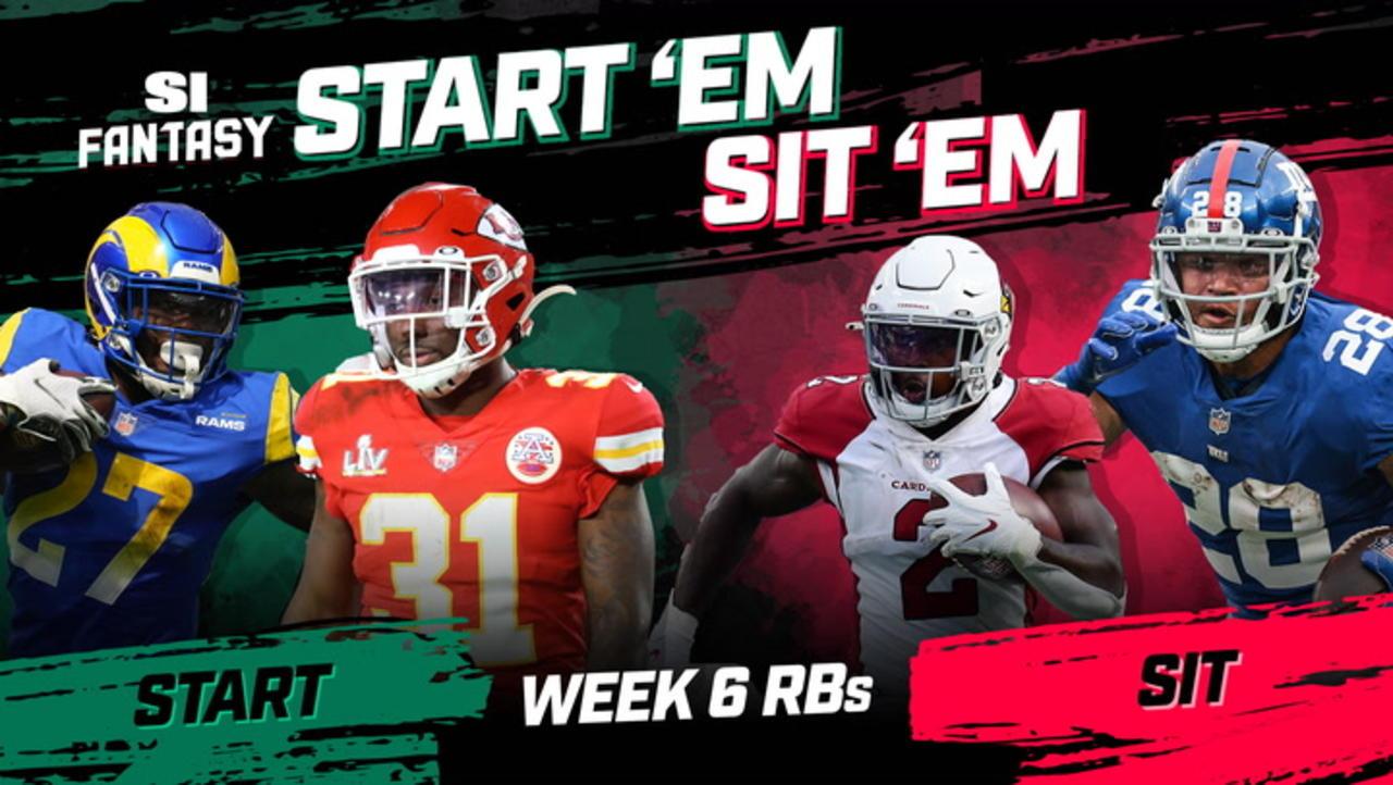 Week 6 Start 'Em or Sit 'Em: Running Backs