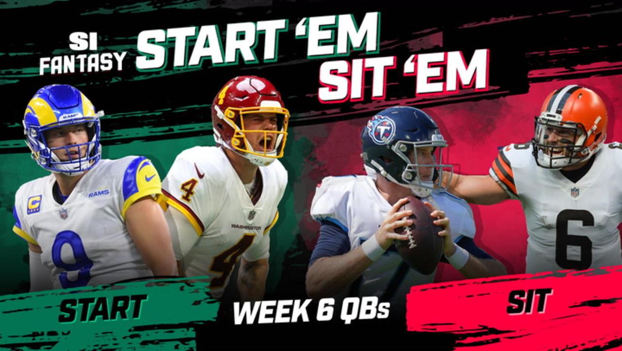 Week 6 Start 'Em or Sit 'Em: Quarterbacks