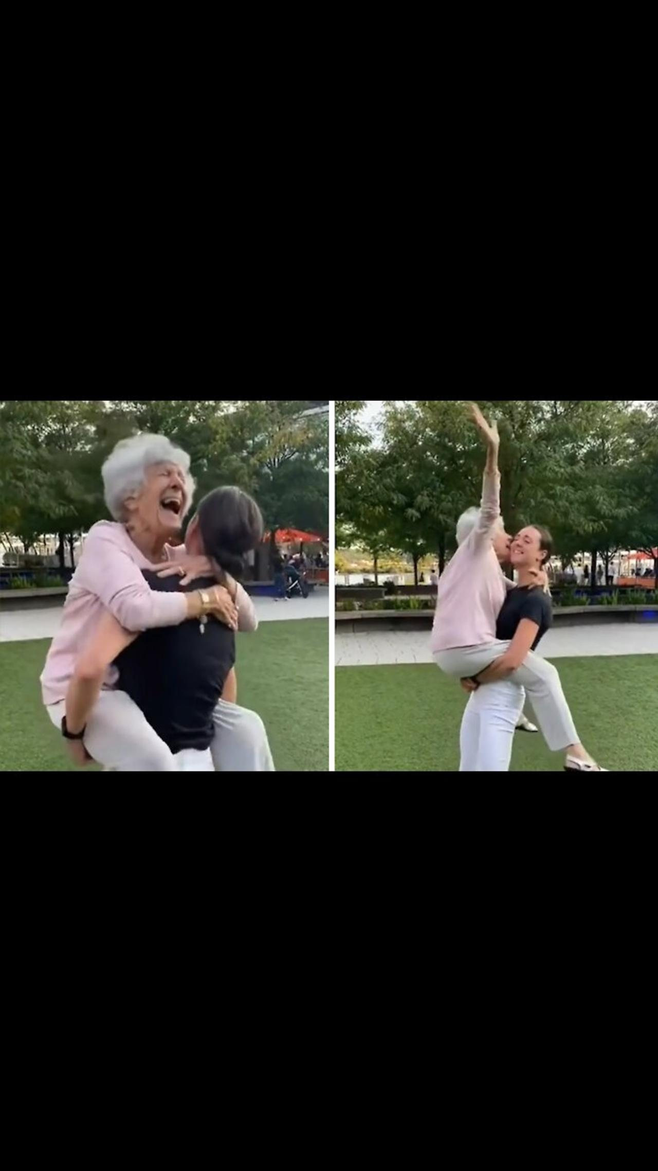 Woman and her 93-year-old grandma recreate special dancing moment