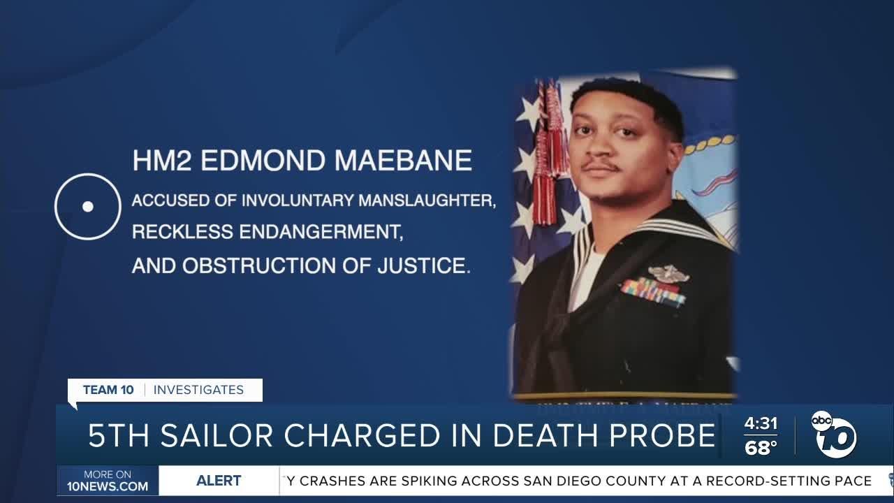 5th Navy sailor charged in connection to death of sailor