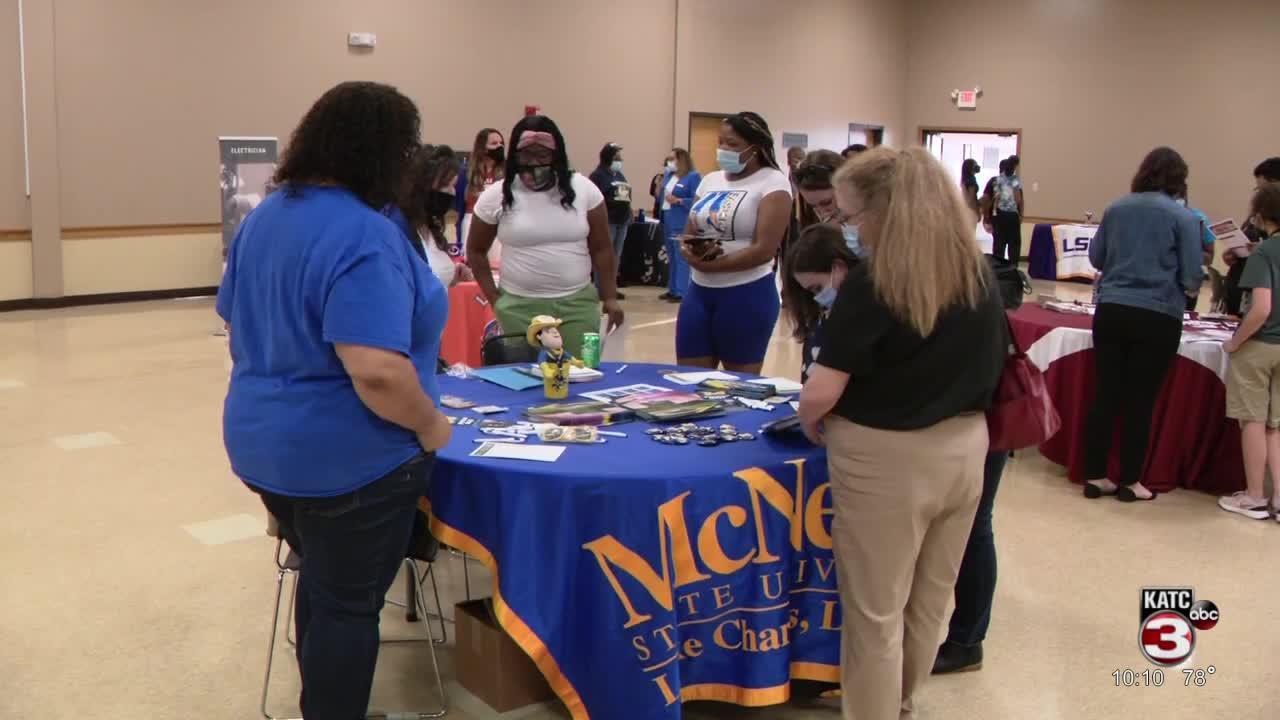 seniors explore post-grad options at career fair