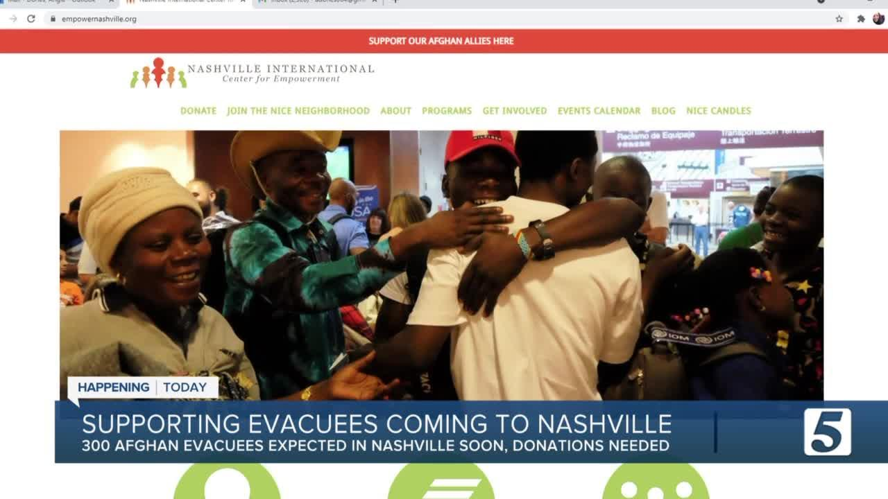 Organizations turning to the public to help Afghan evacuees settle in Nashville