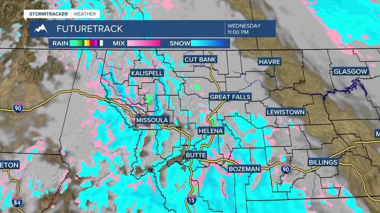 Cloudy and cool with light snow Wednesday