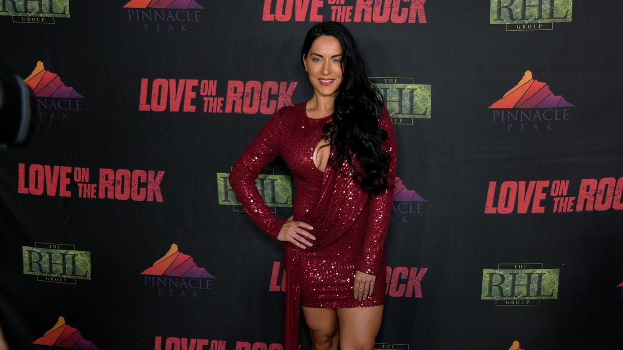 Zhaleh Vossough attends the 'Love on the Rock' Red Carpet Premiere in Los Angeles