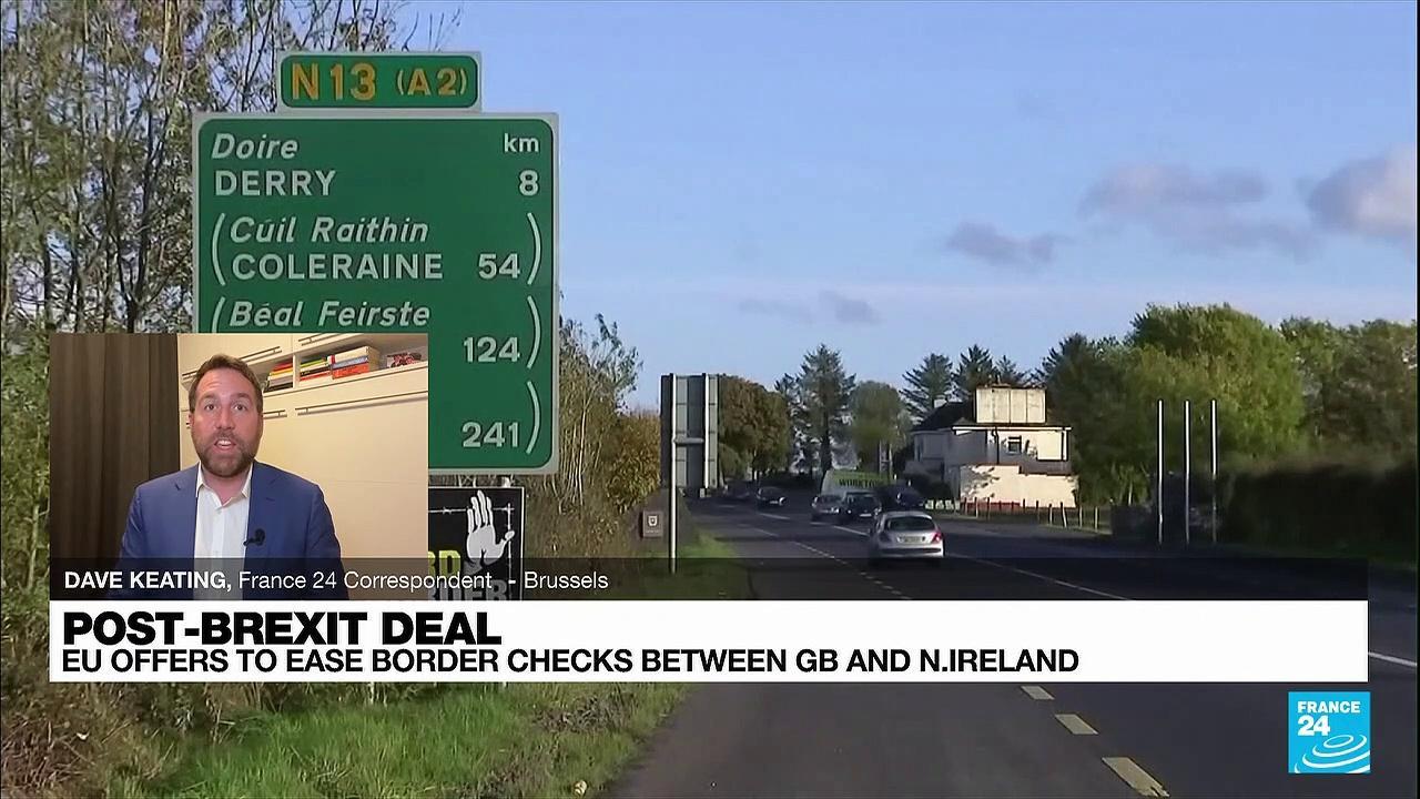 EU proposes easing controls on British trade to Northern Ireland