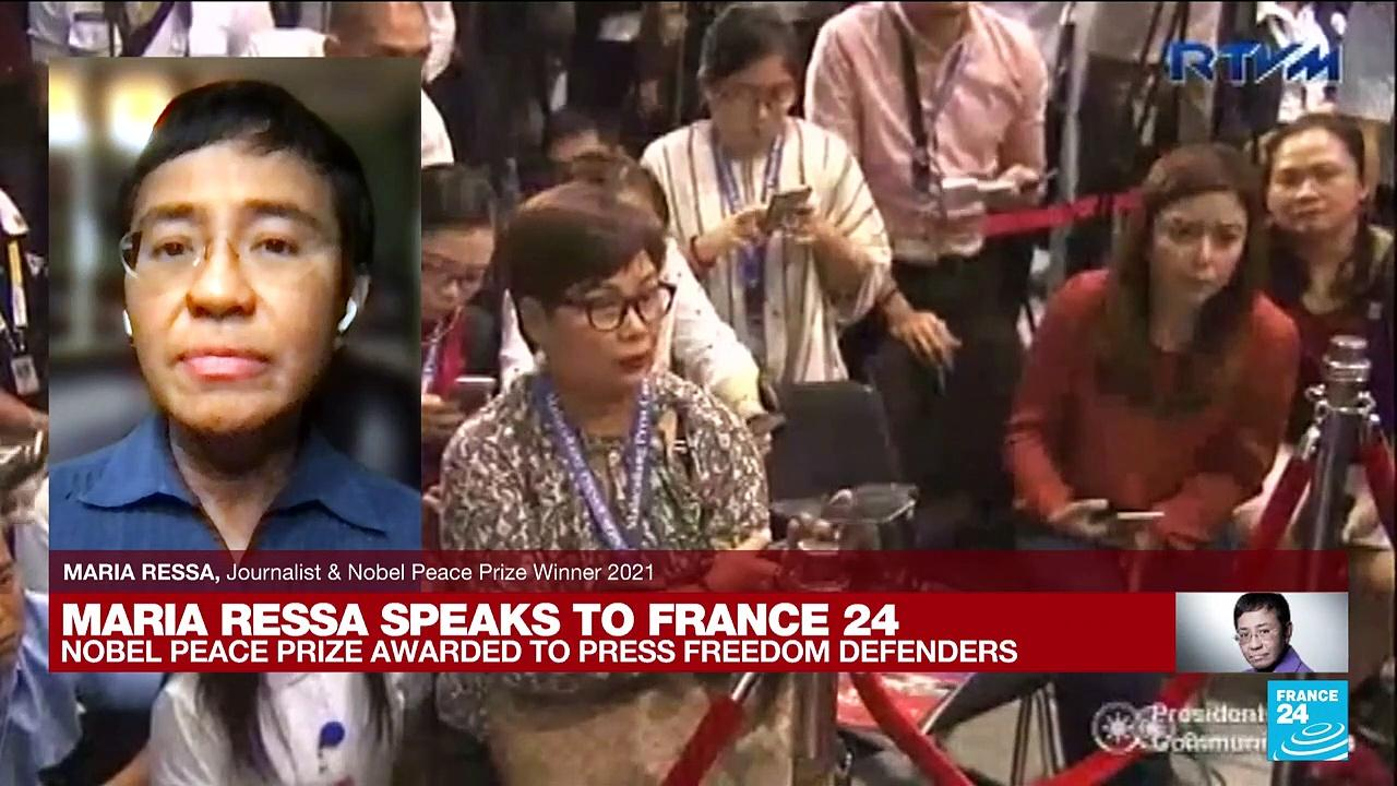 'There is so much still left to do': FRANCE 24 speaks to Nobel Peace Prize laureate Maria Ressa