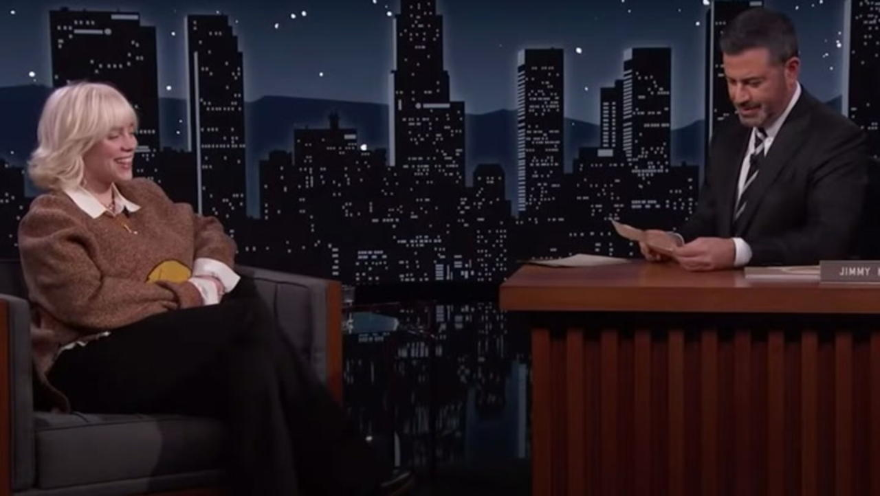 Billie Eilish Crosses Items Off Her Bucket List on 'Jimmy Kimmel Live!' | Billboard News