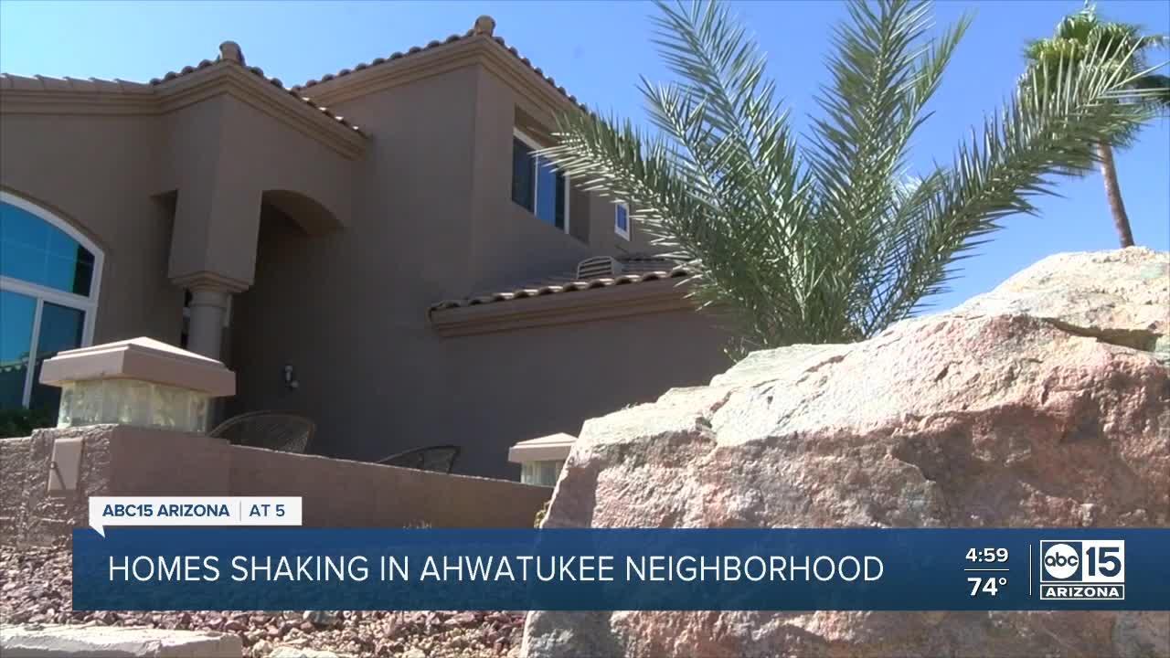 Homes shaking in Ahwatukee neighborhood
