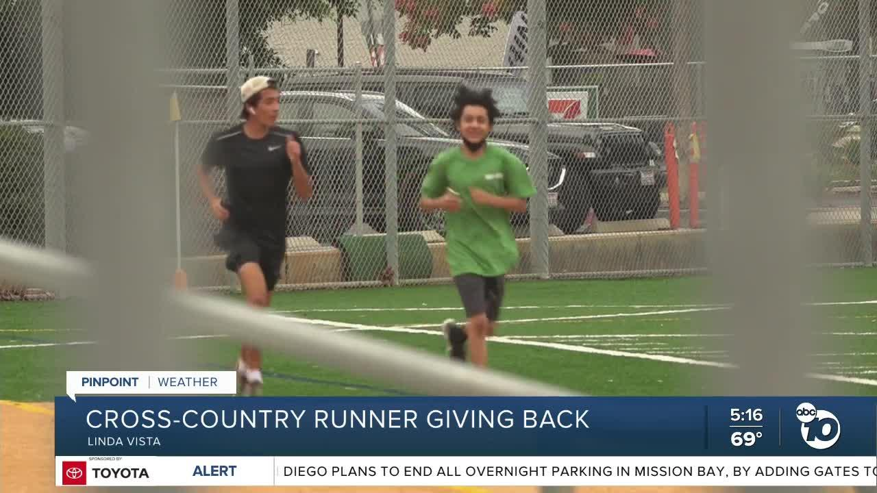 Cross Country runner gives back to the community