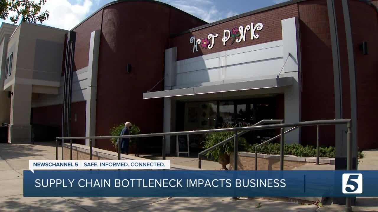 Supply chain bottleneck impacts local small businesses