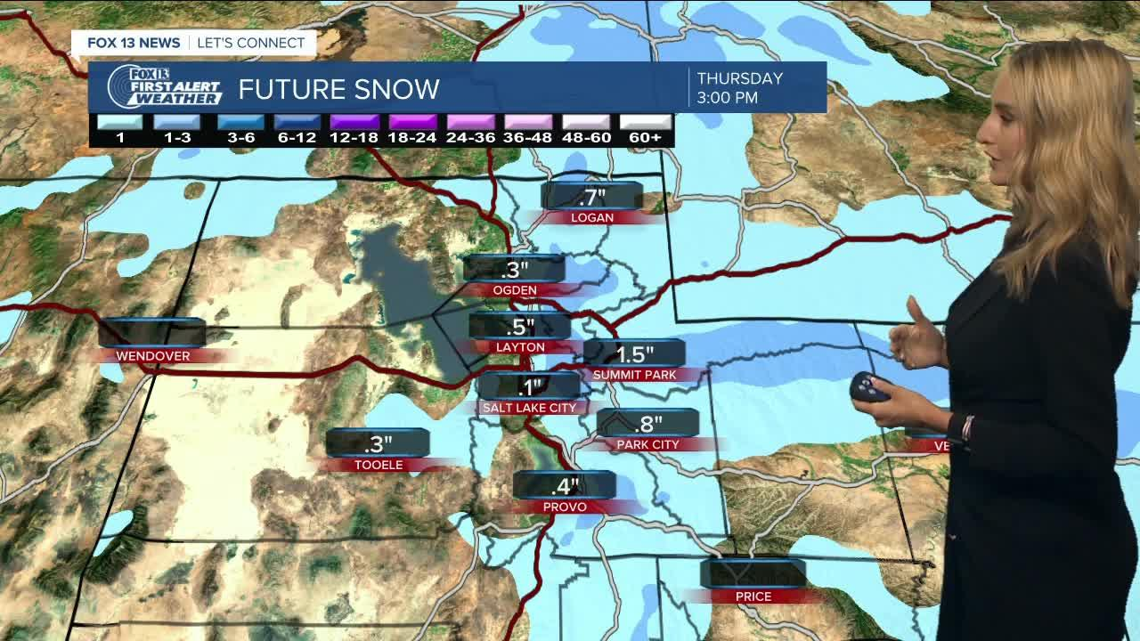Snow possible in Northern Utah mountains and valleys as storm moves in Wednesday night