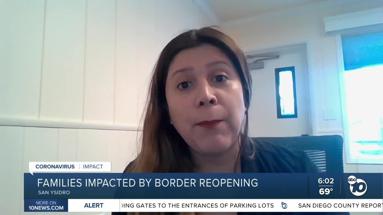 Families impacted by border reopening