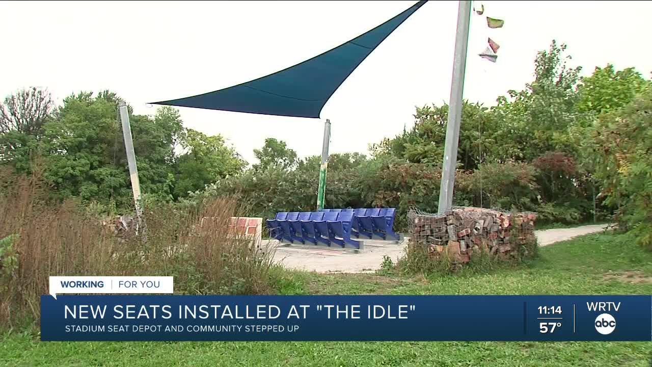 New seats installed at 'The Idle'