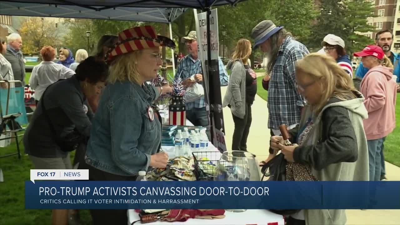 Pro-Trump activists canvassing door-to-door