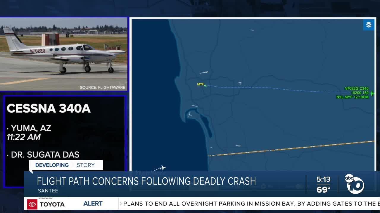 Santee mayor concerned about flights over area after crash