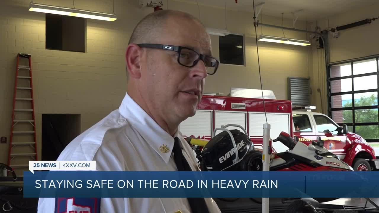 How to stay safe on the road with heavy rain on the way
